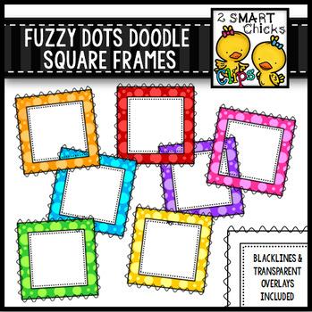 Fuzzy Dots Doodle Square Frames