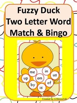Fuzzy Duck Two Letter Word Match & Bingo