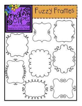 Fuzzy Frames and Borders {Creative Clips Digital Clipart}