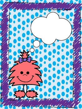 Fuzzy Friends/Monsters Blank Binder Divider/Cover