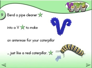 Fuzzy Grassy Caterpillars - Animated Step-by-Step Science