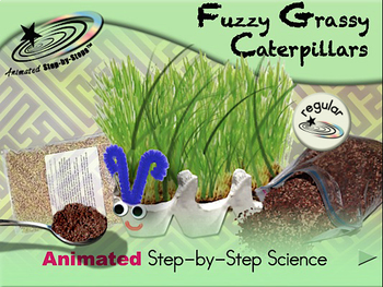 Fuzzy Grassy Caterpillars - Animated Step-by-Step Science - Regular