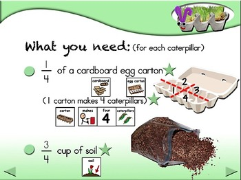 Fuzzy Grassy Caterpillars - Animated Step-by-Step Science SymbolStix