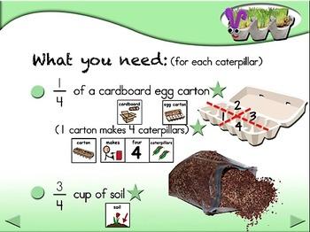 Fuzzy Grassy Caterpillars - Animated Step-by-Step Science - SymbolStix
