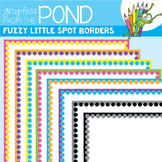 Fuzzy Little Spot Borders - Graphics From the Pond