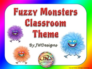 Classroom Themes - Fuzzy Monsters