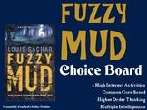 Fuzzy Mud Choice Board Novel Study Activities Menu Book Pr