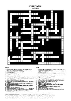 Fuzzy Mud - Crossword Puzzle