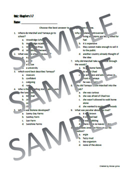 Fuzzy Mud Quiz Chapters 15-21