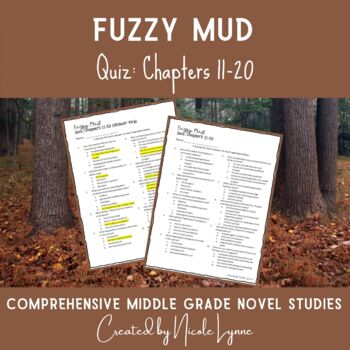 Fuzzy Mud Quiz Chapters 8-14