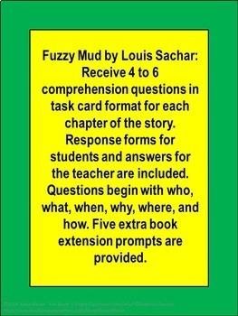 Fuzzy Mud by Louis Sachar Book Unit