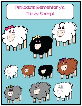 Fuzzy Sheep Clipart! Perfect for Spring & Easter!