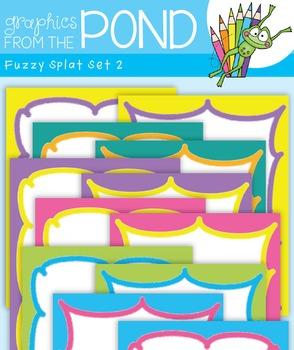 Fuzzy Splat Borders Set 2