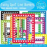 Frames / Borders - Fuzzy Spot Line Borders