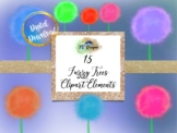 Fuzzy Tree Elements Clipart