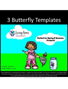 Fying Butterfly Template!