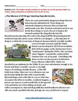 G 3 - 5 Drug Safety Awareness For Students with Autism