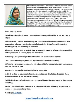 G 3 - 8 Int. Human Rights Leaders- Students w/ MH or Medical Conditions