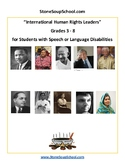 Grade 3- 8, International Human Rights Leaders for Speech/
