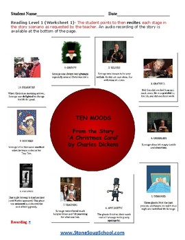 """G 3 - 8 Physical Disabilities """"A Christmas Carol""""  Moods of the Story -  Reading"""