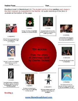 """G 3 - 8 Psychiatric Disabilities """"A Christmas Carol"""" Moods of the Story -Reading"""