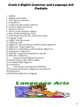 G.6 Language Arts and Grammar Booklet