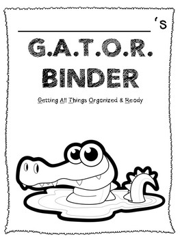 G.A.T.O.R. Binder Cover