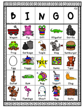 G Articulation Bingo
