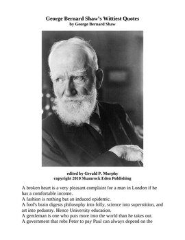 G. B. Shaw's Wittiest Quotes!