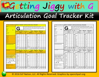 Get Jiggy with G Goal Tracker Kit: Track G Articulation Goals with Ease.