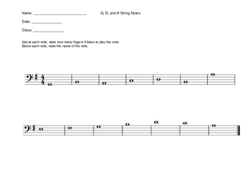 G, D, and A String Quiz