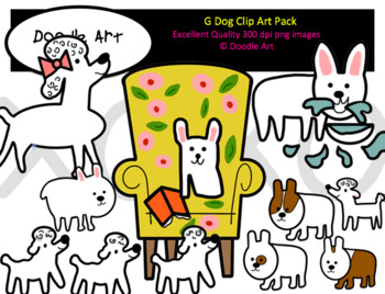 G Dog Clip Art Pack