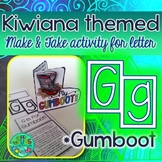 G = GUMBOOT {Kiwiana Themed 'Make & Take' Alphabet Set}