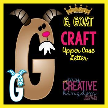 G - Goat Upper Case Alphabet Letter Craft
