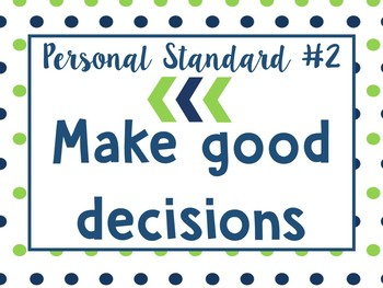 G.L.A.D. Personal Standards Mini Posters