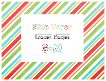G-M Bible Verse Tracer Pages