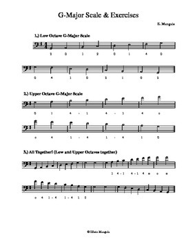 G-Major Scales and Exercises (Bass)