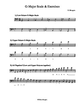 G-Major Scales and Exercises (Cello)