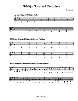 G-Major Scales and Exercises (Violin)