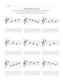 G-Major Tonal Pattern Writing Sheet
