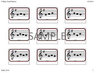 G Major Tonal Patterns for Older Beginners--Small Print Version