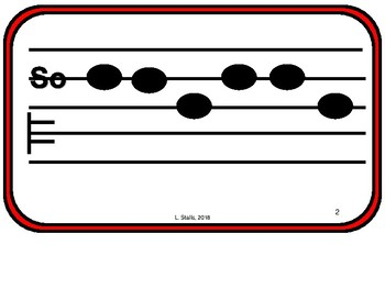 G Major Tonal Patterns--pentatonic, song-derived for the Kodaly classroom