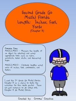 2nd Grade Go Math! Florida Chapter 8 Inches, Feet, and Yards Packet