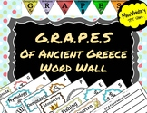 G.R.A.P.E.S of Ancient Greece Word Wall Terms