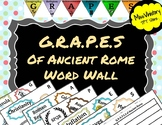G.R.A.P.E.S of Ancient Rome Word Wall Terms
