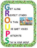 G.R.O.U.P.S. Poster: Peanuts Gang Themed