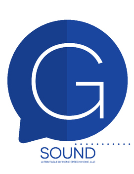 G Sound Printable Flashcards