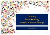 G String Note Reading Assessment
