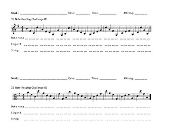 G String Note Reading Exercises