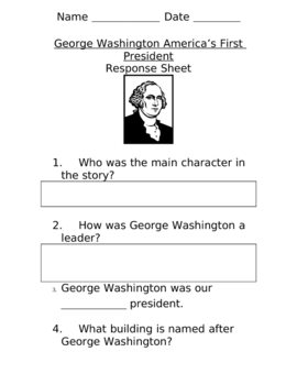 G. Washington Response Sheet
